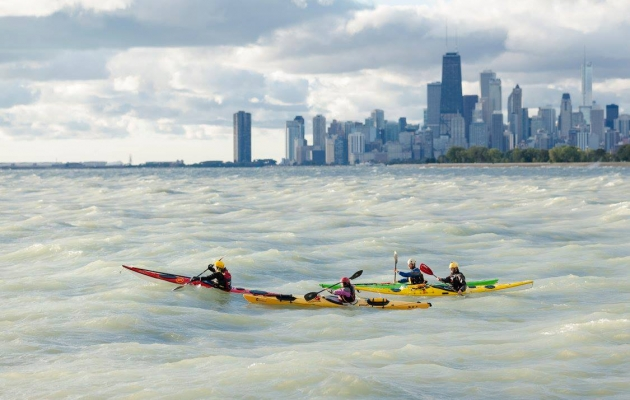 Bonnie Perry paddles Werner and wears Kokatat